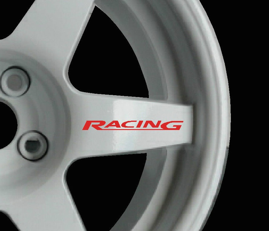 Subaru Impreza WRX STI 8 x logo decal graphics stickers for alloy wheels blackg