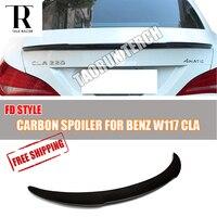C117 углеродного волокна задний багажник загрузки губы крыло для Mercedes Benz C117 W117 A180 A200 A250 A45 AMG 2013 2019 FD Стиль