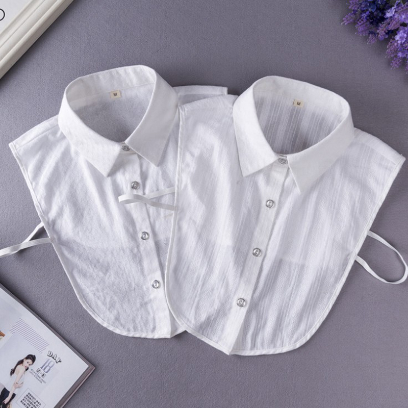 YSMILE Y Large Size Women Men White Fake Collar Striped Diamond Pattern Fashion Detachable Collar High Quality Suit Shirt Collar