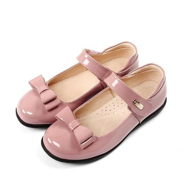 New Girls Leather Shoes Black Children Genuine Leather Inner material Princess Dress Party Shoes Baby Kids Toddler Shoes 018
