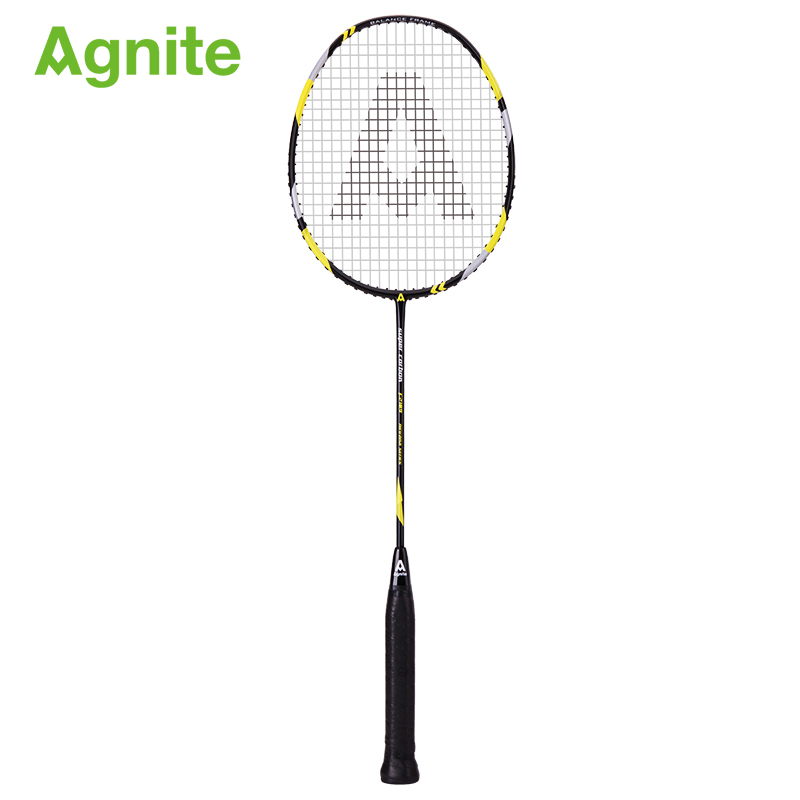 Agnite Official Profession Full Carbon Badminton Racket Adult Ultra Light Resistant Competition Training Special Single Shot