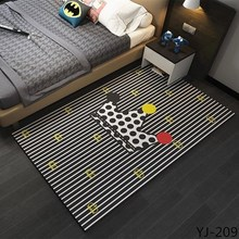 2018 New American brief modern personality geometry sofa coffee table carpet yellow bed mats