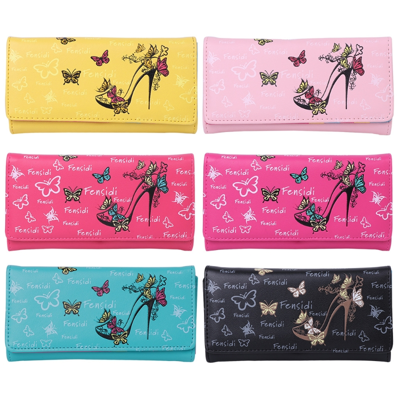 THINKTHENDO Women Long Bifold Wallet Leather Purse Clutch Card Holder Purses Lady  New Fashion Lovely Cell Phone Pockets zelda wallet bifold link faux leather dft 1857