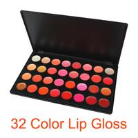 Professional 32 Color Lip Gloss Cosmetic Lip Gloss Lipsticks Makeup Lips Palette Set Kit Portable Lip Gloss