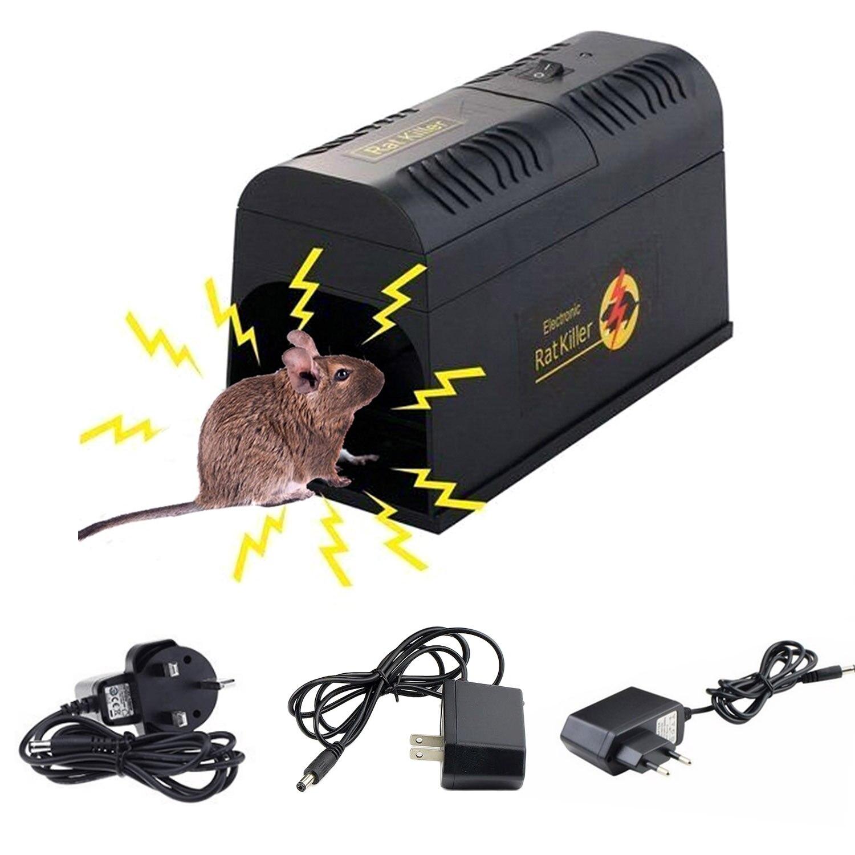 Behogar Scosse Elettriche Mouse Del Mouse Ratto Roditore Gabbia Trappola Killer Zapper Rifiutare Rejector Per Gravi di Controllo Dei Parassiti di UE STATI UNITI REGNO UNITO spina