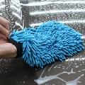 Auto Care 2 em 1 Fibra Ultrafina Chenille Microfibra Car Wash Glove Mitt para Lavador de Carros & Limpeza (Anthozoan/Macarrão)