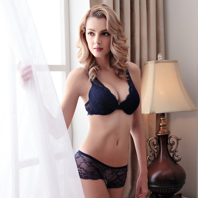 2017 Hot Sale Underwear Women 3/4 Cup Lace Underwire Two Hook-and-eye Free Shipping