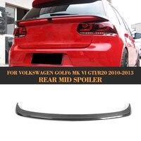 Fibra de carbono tronco traseiro spoiler carro auto asa traseira do meio para volkswagen vw golf6 mk6 gti r20 2010 2011 2012 2013