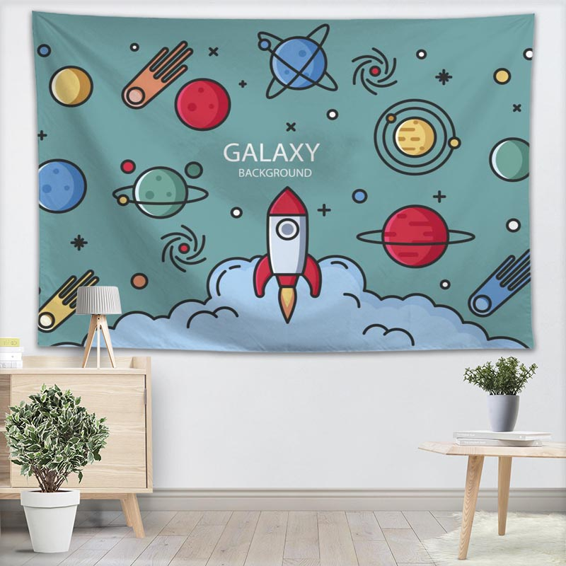 Child S Room: Aliexpress.com : Buy Rocket Wall Tapestry 3D Printing