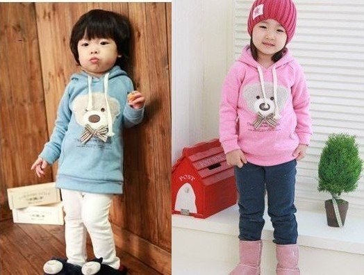 New Baby Long-Sleeve Coat Cartoon bear Coat Cotton Coat Children's Coat Love Jacket Free Shipping