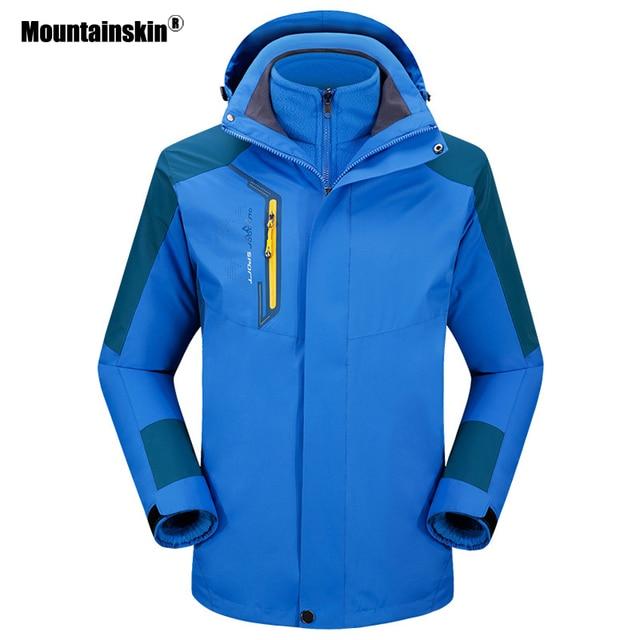 Mountainskin 3in1 Men's Winter Warm Fleece Jackets Softshell Windbreaker Outdoor Sports Hiking Camping Skiing Fishing Coat VA266
