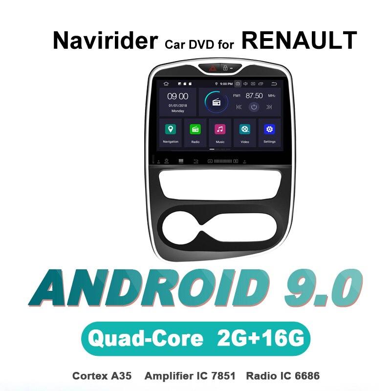 Navirider OS 9,0 автомобиль проигрыватель Android для RENAULT CLIO 2017 для стерео Радио автомобильной gps навигации bluetooth 7851 усилители домашние звук системы