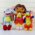 3 шт./лот Дора Обезьяна Сапоги Swiper Фокс Куклы фаршированные плюшевые Игрушки Лучший подарок для Девочки