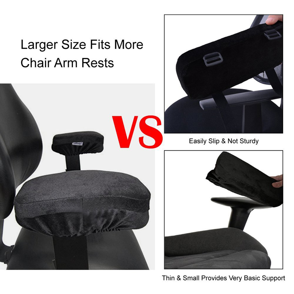 Tireless 2 Pieces Set Ergonomic Memory Foam Chair Armrest Pad Rest Comfy Rest Office Chair Rest Arm Rest Cover For Elbows And Forearms Tools & Accessories