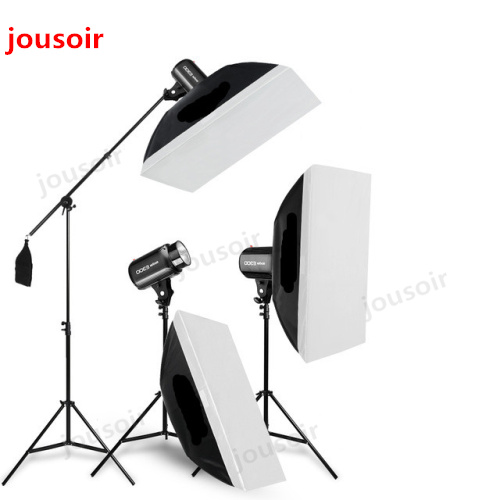 900Ws <font><b>Godox</b></font> Strobe Studio Flash Light Kit 900W - Photographic Lighting - Strobes, Light Stands, Triggers, Soft Box,Boom Arm CD50 image