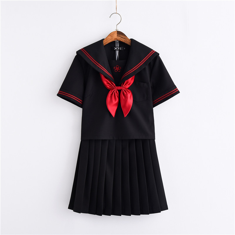 New Arrival Novelty Japanese School Uniforms Summer Sailor Hell Girl enma ai anime Cosplay Girls Suit