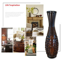 Classic Large Floor Art Bamboo Vase Creative Fashion Home Decoration Craft Antique Floor Vase Decoration Living Room Decoration