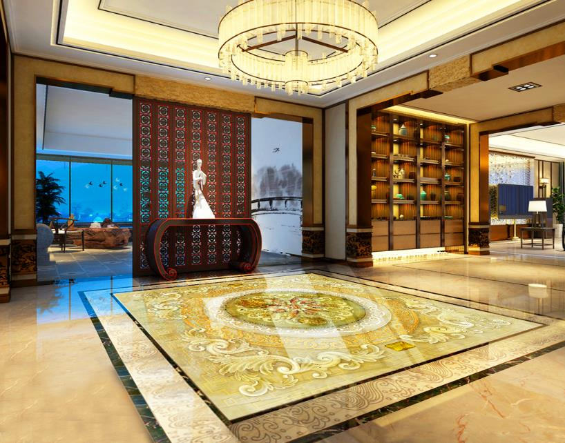 3D Floor Nine Fish Figure 3D Marble Photo Wallpaper 3D Flooring Wall Household Mural Rolls For Livingroom Hotel Mall Bedroom every набор чехлов для дивана every цвет горчичный