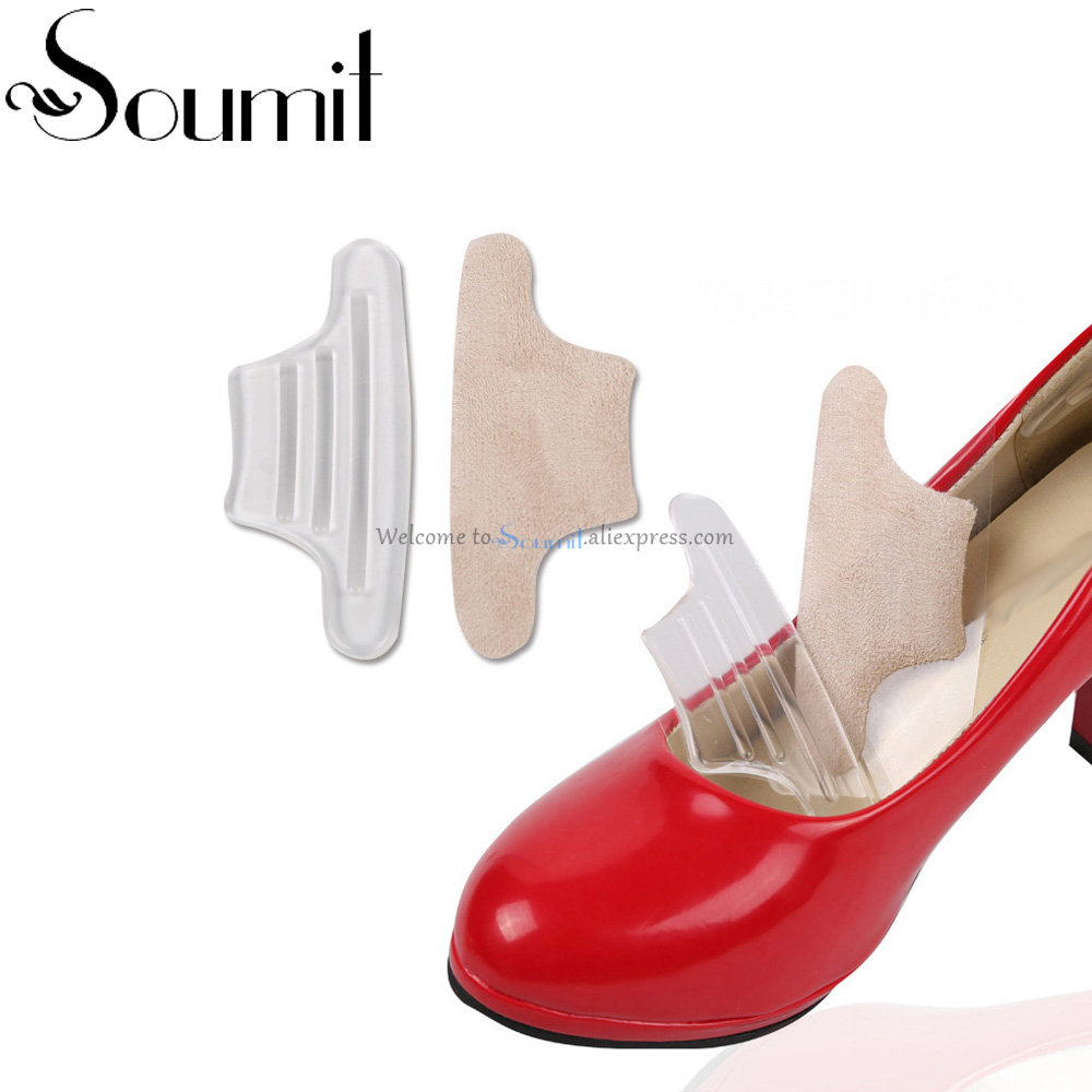 1 Pair Soft Rearfoot Invisible Silica Gel Anti-Slip High Heel Cushion Heel Back Pad for Protect your foot from Pain and Blister