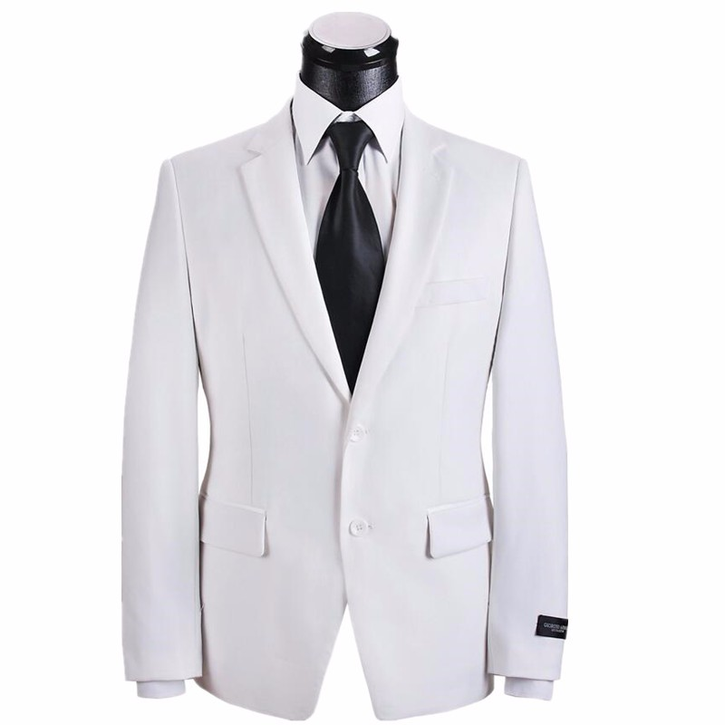 20.1 Men\'s suit jacket handsome white wedding the groom\'s best man coat high quality custom business casual jackets