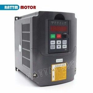 Image 4 - EU free VAT 2.2KW Air cooled spindle motor ER20 & 2.2kw VFD Inverter 220V & 80mm Clamp & 1set  ER20 collet 14pcs for CNC Router