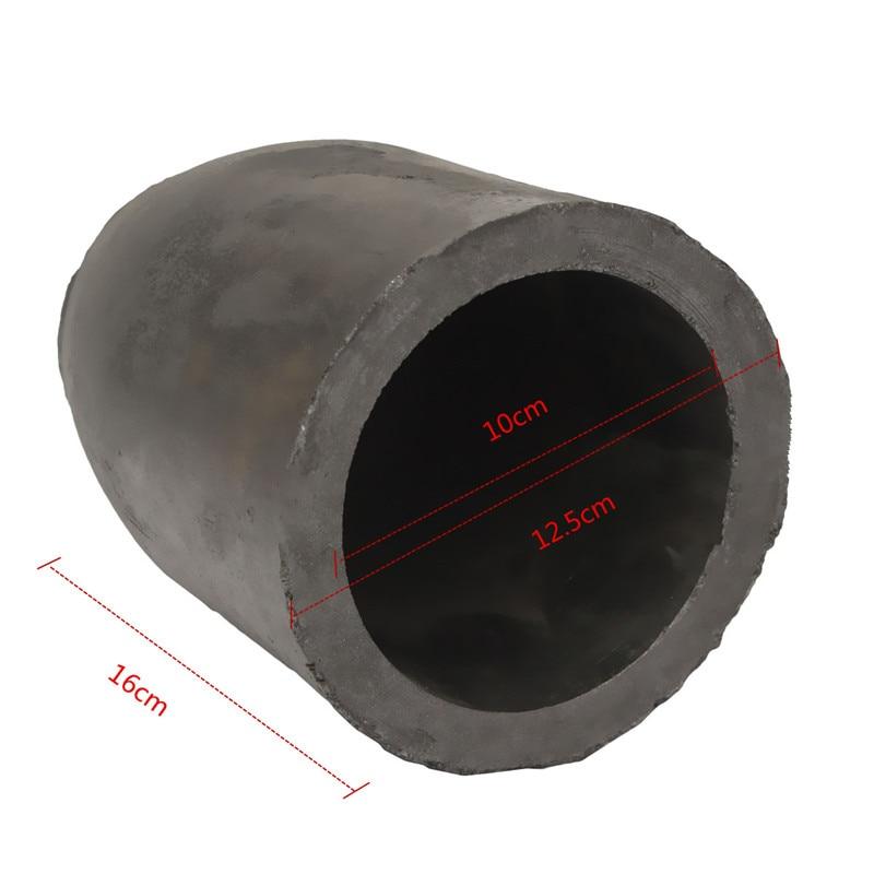 12.5x16 cm 5 kg Coulée Creusets En Graphite Argileux Raffinage De Fusion En Aluminium de Cuivre En Laiton En Vrac Densité plus 1.71 g/cm3 ect