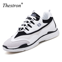 Men Sneakers Black White Sport Shoes Mesh Running Sneakers Lace Up Athletic Footwear Breathable Anti slip Trail Running Shoe Man