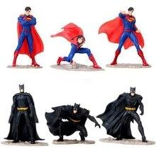 Figuras de acción de superhéroes, Superman y Batman, modelo de PVC, tres tipos de estilo, Chico, juguete de regalo, 1 Uds.