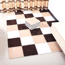 4/6/9 pcs 30*30cm Square Puzzle Carpet Short Plush + EVA Thicken Rugs Soundproof Shockproof Waterproof Heat Preservation Mats