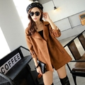 Autumn and Winter 2016 Elegant Trench Coats Women Fashion Outerwear belt sleeve windbreaker Outwears high quality