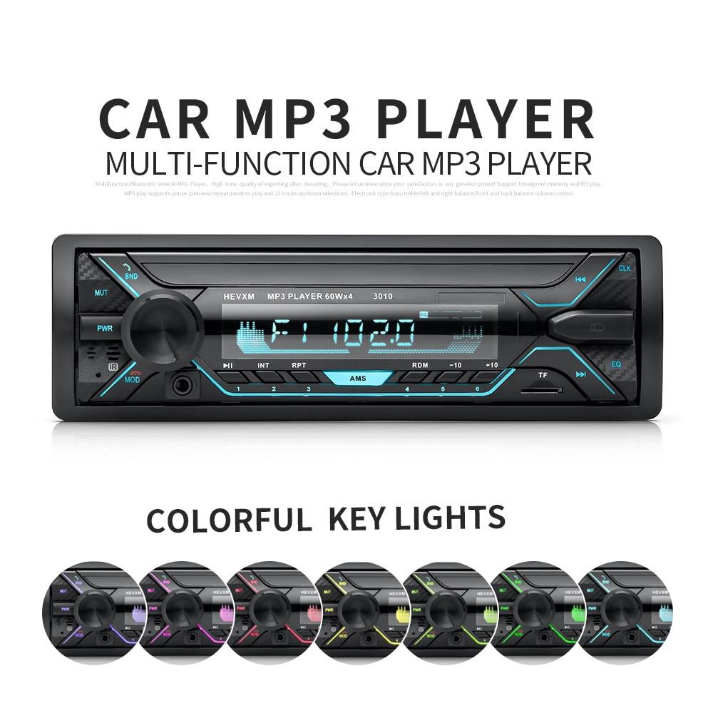 1 Din Bluetooth Car Radio MP3 Player Car Audio Stereo Bluetooth Stereo Radio 12V FM AUX Handsfree Calling In-Dash Autoradio автокомплект bluetooth oem bluetooth mp3 fm iphone 5 4s 4 6 12v