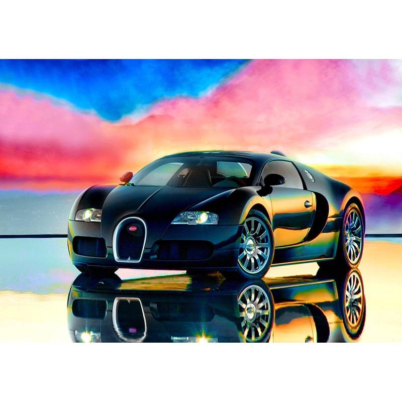 Diy Diamant Schilderen Bugatti Auto Diamant Borduurwerk Dinosaurussen Familie 5d Vierkante Mozaïek Plakken Patroon