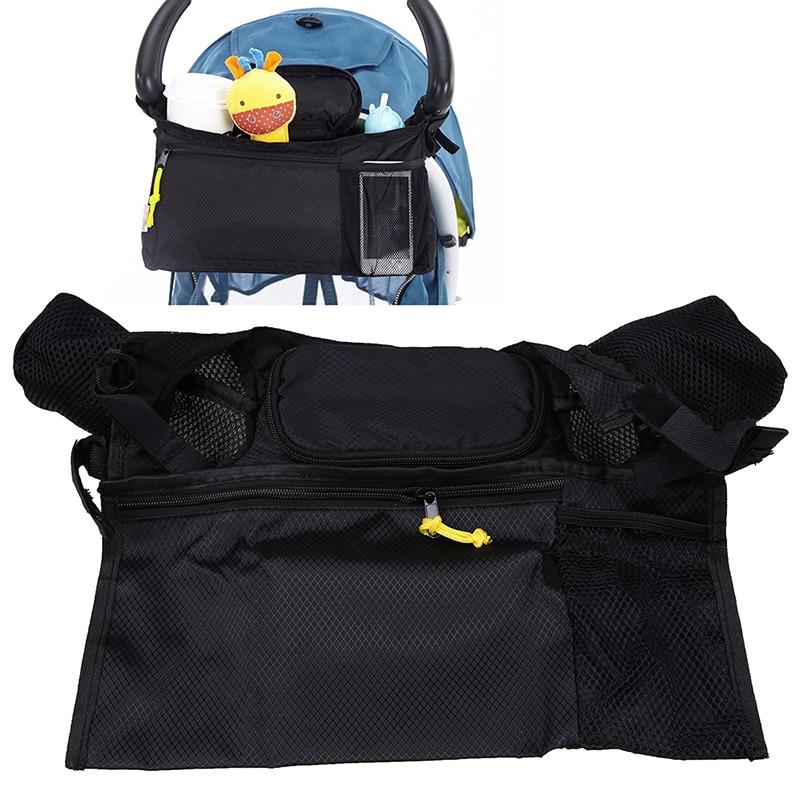 Portable Baby Stroller Hanging Storage Organizer Waterproof Bebe Carriage Milk Bottle Toys Nappy Storage Bag Prams Accessories