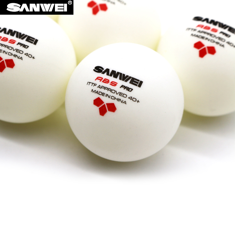 Wholesales 60 Balls SANWEI 3-Star Table Tennis Ball Sanwei ABS PRO ITTF Approved New Material Plastic Poly Ping Pong Balls