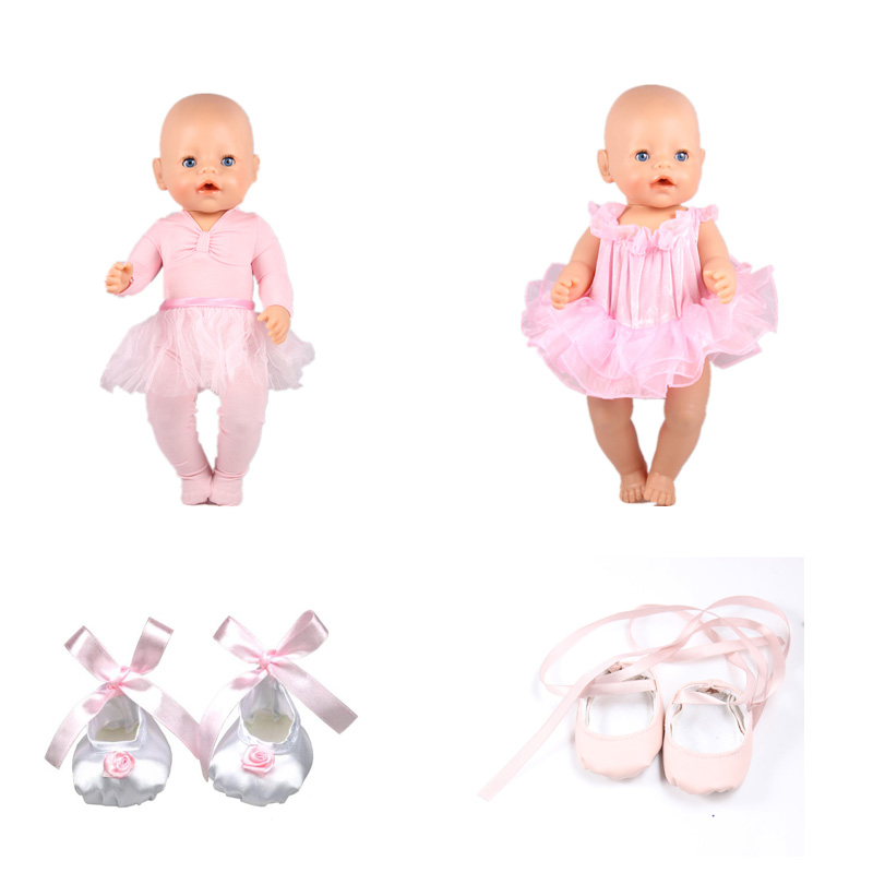 Cheap Baby Born Doll Clothes Ballet Dance Dress And Shoes Baby Born Doll Accessories Fit 43cm Baby Born Doll Christmas Gift
