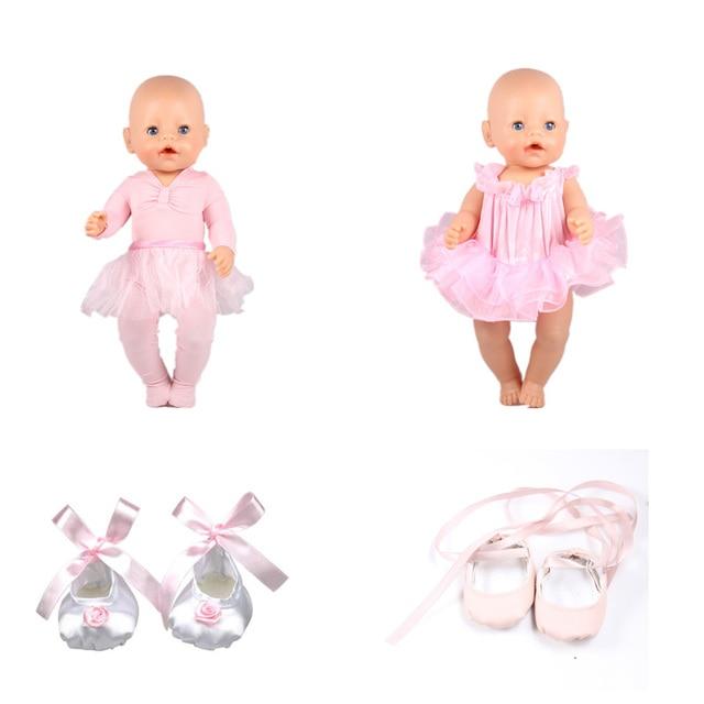 g nstige baby born puppe kleidung balletttanzkleid und schuhe baby born puppe zubeh r fit 43 cm. Black Bedroom Furniture Sets. Home Design Ideas