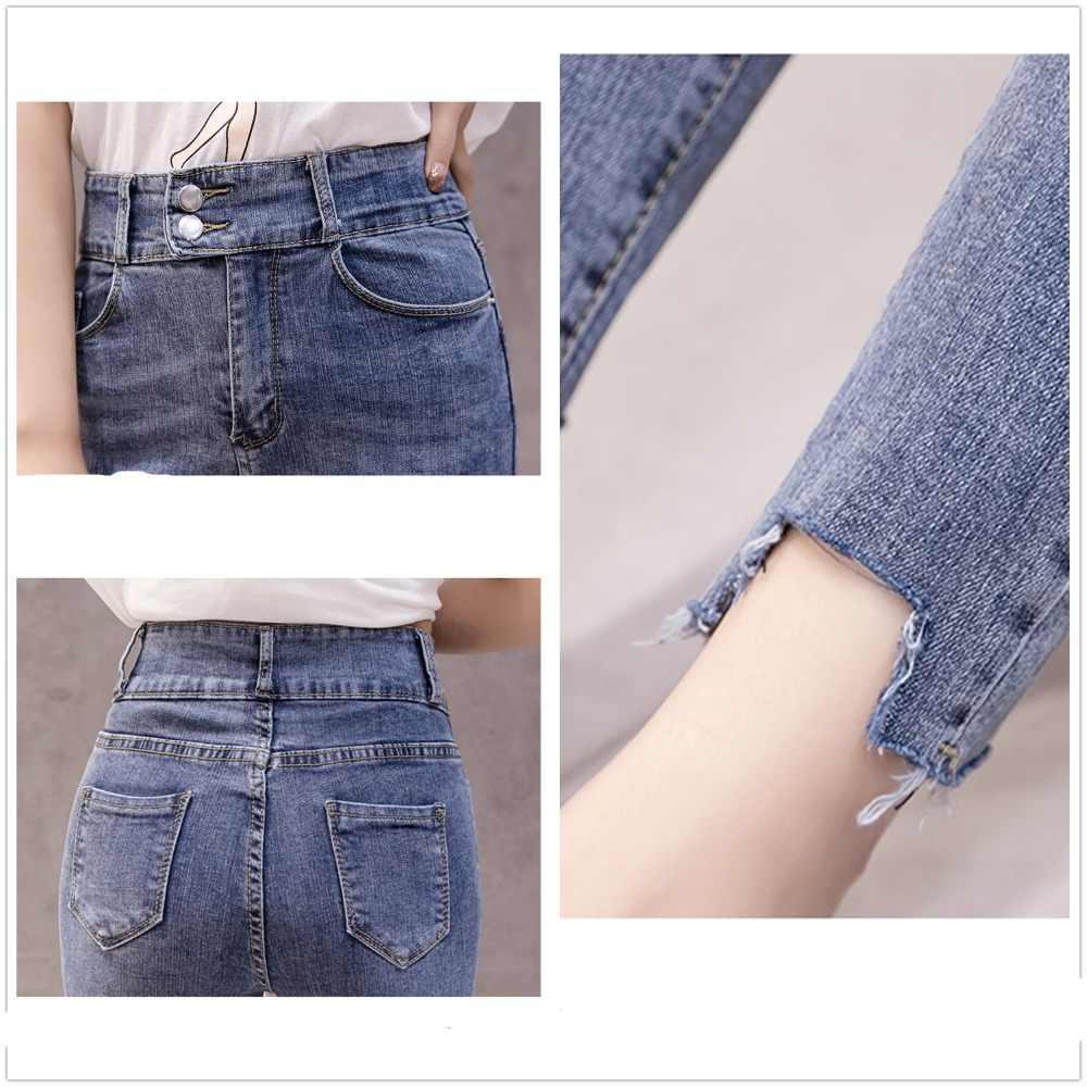 JUJULAND 2019 Jeans femme Denim pantalon 3 couleur femmes Jeans Donna Stretch pantalon Skinny pour femmes pantalon 1836