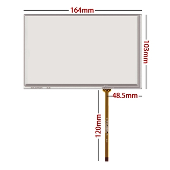 10 pcs/lot New 7.1 inch resistance touch screen 164*103 164MM*103MM for car dvd gps