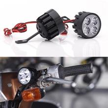 1Pcs Motorcycle E-bike 12W Headlight LED Mirror Light Spot Fog Lamp 10V-85V 4.1inx2in