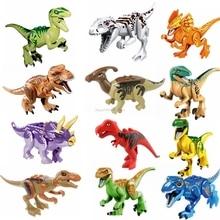 Legoing динозавры Парк Юрского периода фигурки животных Indominus Rex динозавр Raptor строительные блоки подарок Diy игрушки Legoing кирпичи