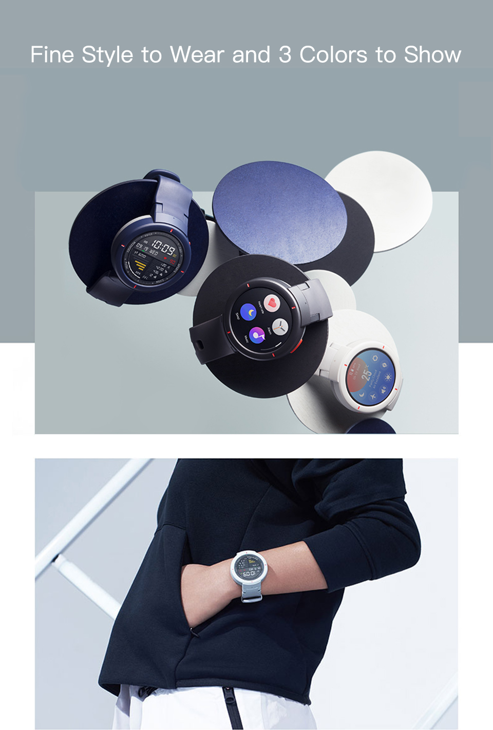Amazfit Smartwatch With 1.3-inch AMOLED Screen