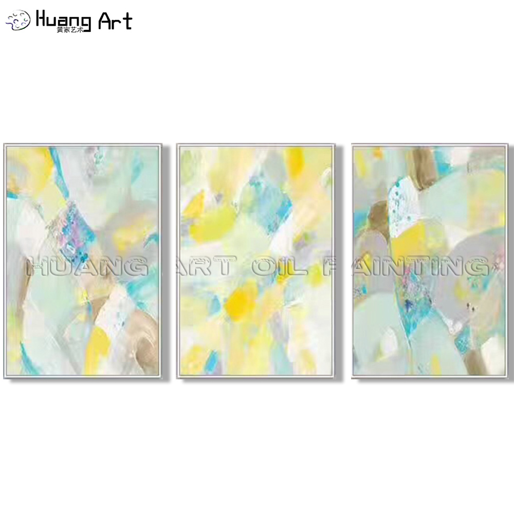 Pleasant Us 36 48 52 Off Artist Hand Painted Yellow Color Lump Abstract Wall Painting For Living Room Decor Modern Bright Colors Oil Painting On Canvas In Home Interior And Landscaping Staixmapetitesourisinfo