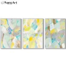 Artist Hand Painted Yellow Color Lump Abstract Wall Painting for Living Room Decor Modern Bright Colors Oil on Canvas