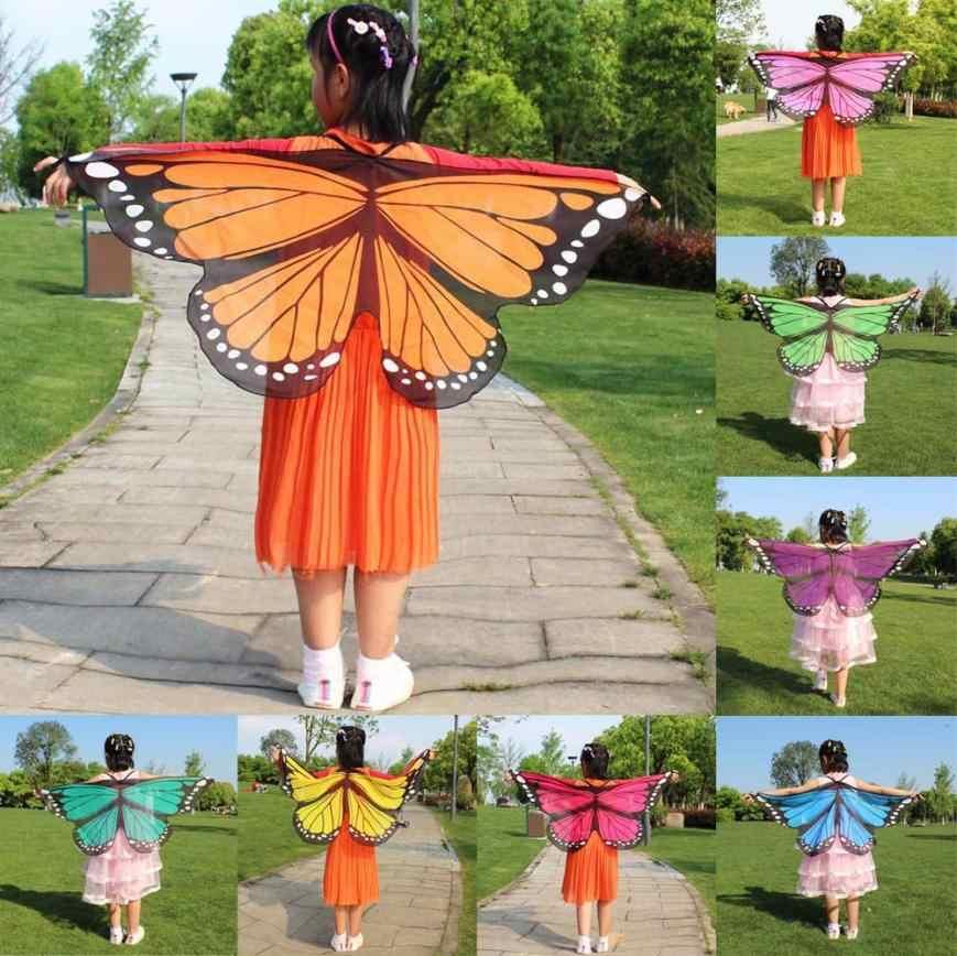 JAYCOSIN enfant enfants garçons filles femmes bohème papillon imprimé châle Pashmina Costume accessoire mode écharpe châle P26