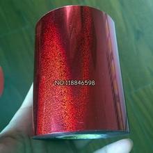 Песок красный один рулон горячего тиснения фольги для бумаги или пластика золотого цвета 80 мм x 120 м термопечати фольги бумаги