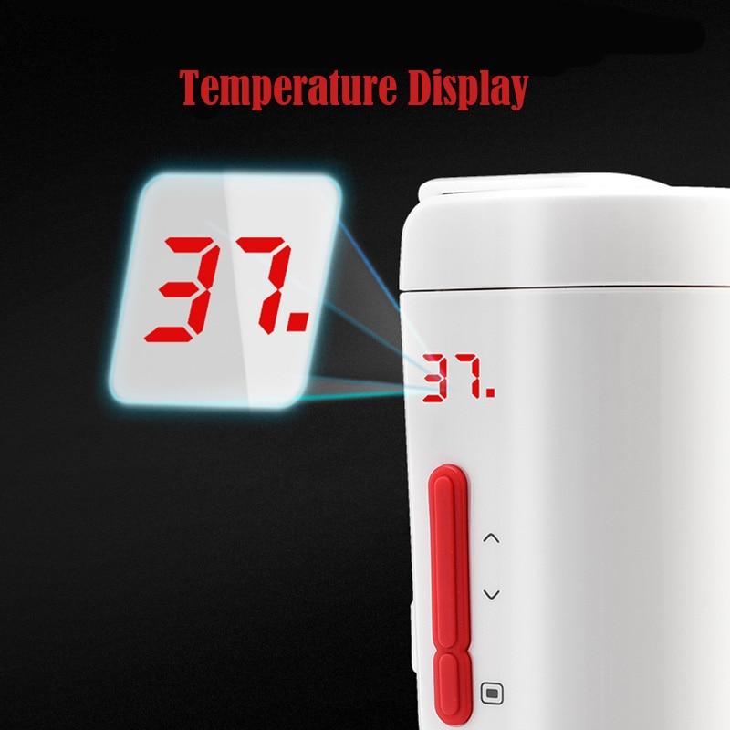 350 мл Автомобильная подогревающая чашка с регулируемой температурой и цифровым дисплеем, электрический чайник для кипячения автомобиля, черная Автомобильная чашка 70 Вт - 5