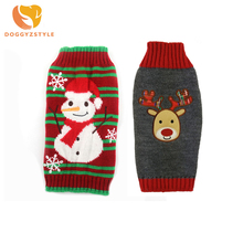 Christmas Sweater For Dogs Pets Winter Shirt Cute Reindeer Snowman Clothes Small Medium Large Cat Costume DOGGYZSTYLE