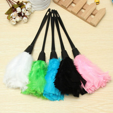 New Multicolor Turkey Feather Duster with Black Plastic Handle High Quality Feather Dusters For Home Cleaning Tools
