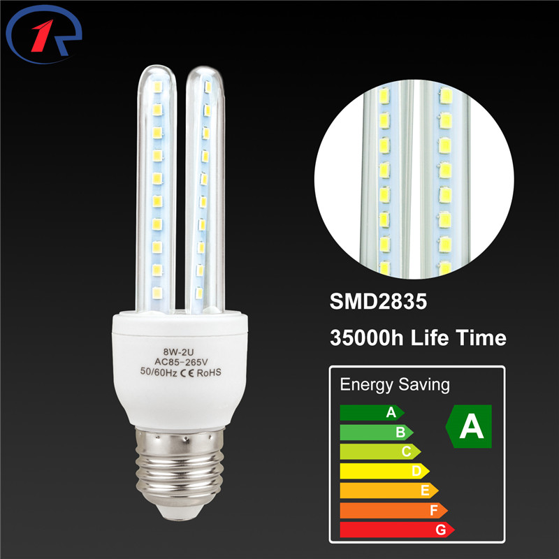 ZjRight 4pcs E27 Energy Saving LED Lighting Lamp 8W 40LEDs 12W 60LEDs Cafe school library factory Office Indoor home lighting