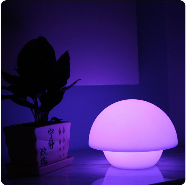 IP65 LLDPE Material Rechargeable battery 16 color changing cordless mushroom shape led table lamp Free shipping 1pc дрипка mad dog rda клон